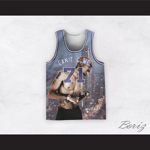 Tupac Shakur 71 Can't C Me City Night Basketball Jersey