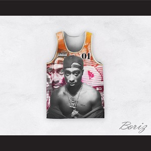 Tupac Shakur 01 Outlaws Advisory Street Style Basketball Jersey