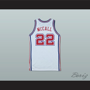 Quincy's Dad Zeke McCall 22 Pro Career Basketball Jersey Love and Basketball