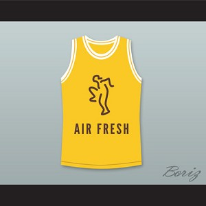 THE FRESH PRINCE OF BEL-AIR WILL SMITH 14 AIR FRESH YELLOW BASKETBALL JERSEY DREAM