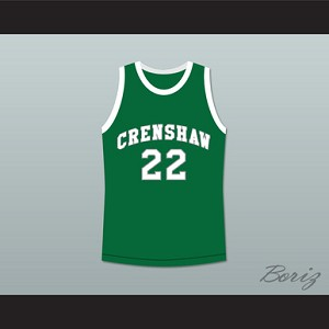 QUINCY MCCALL 22 CRENSHAW HIGH SCHOOL GREEN BASKETBALL JERSEY LOVE AND BASKETBALL