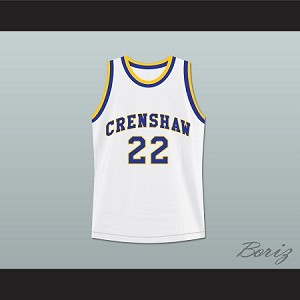 QUINCY MCCALL 22 CRENSHAW HIGH SCHOOL BASKETBALL JERSEY LOVE AND BASKETBALL