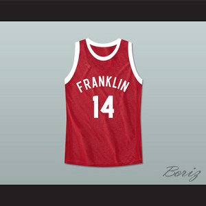 DON CHEADLE EARL MANIGAULT 14 BENJAMIN FRANKLIN HIGH SCHOOL BASKETBALL JERSEY REBOUND