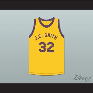 "DON CHEADLE EARL ""THE GOAT"" MANIGAULT 32 J.C. SMITH COLLEGE BASKETBALL JERSEY REBOUND"