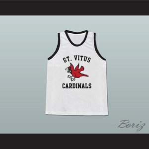LEONARDO DICAPRIO JIM CARROLL ST VITUS CARDINALS WHITE BASKETBALL JERSEY FROM THE BASKETBALL DIARIES