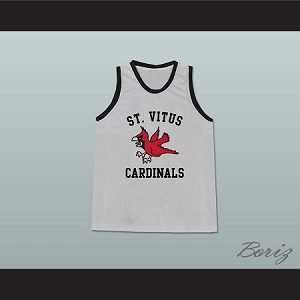 MARK WAHLBERG MICKEY ST VITUS CARDINALS GRAY BASKETBALL JERSEY THE BASKETBALL DIARIES